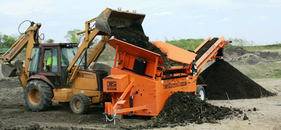 EZ-Screens efficient line of Topsoil Screening Machines, Topsoil Screeners, Sand Sifters, Loam Screeners, Mulch Screeners, and Portable Topsoil Screens
